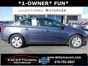 2013 Chevrolet Cruze for sale in Defiance, OH