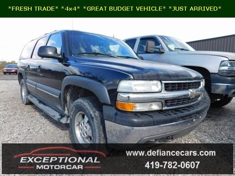 2002 Chevrolet Suburban for sale in Defiance, OH