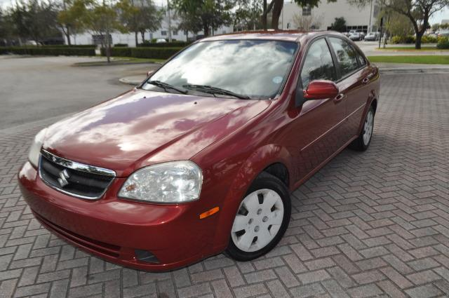 2008 SUZUKI FORENZA BASE red low miles great gas saver air conditioningamfm radioanti-brake s
