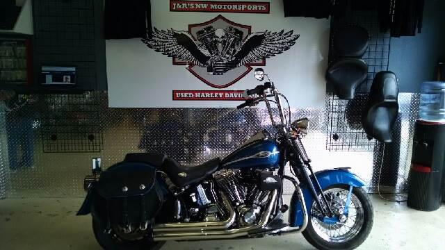 2005 HARLEY-DAVIDSON SOFTAIL SPRINGER FLSTCS blue you got to check out the springer softail it is