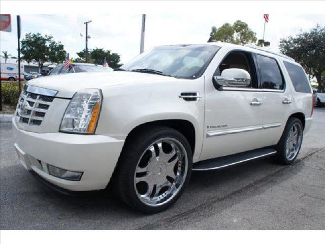 2008 CADILLAC ESCALADE LUXURY white entertainment system sport rims sunroof ready for s