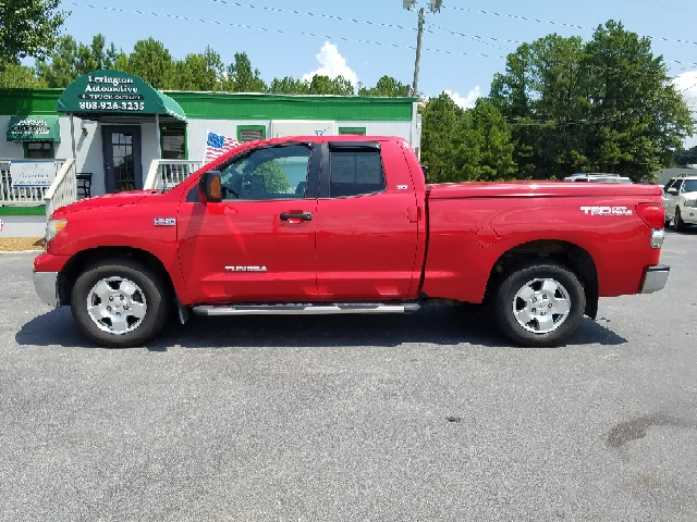 2007 TOYOTA TUNDRA SR5 4DR DOUBLE CAB SB 57L V8 red 2-stage unlocking doors abs - 4-wheel an