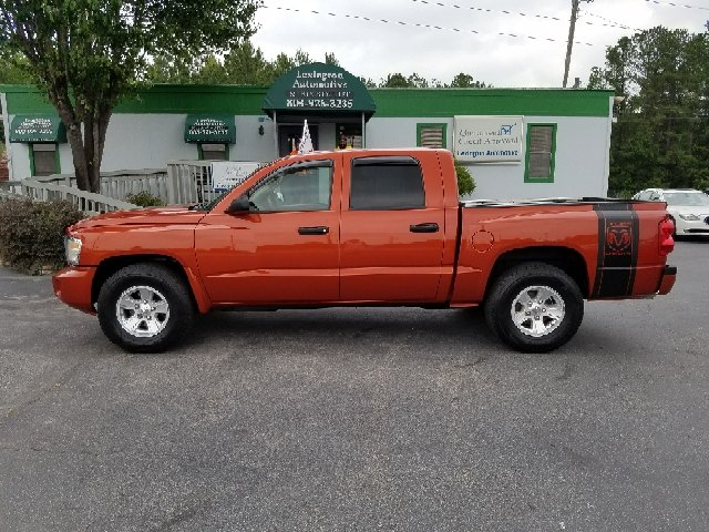 2008 DODGE DAKOTA SLT 4DR CREW CAB SB orange 2-stage unlocking doors abs - rear airbag deactiva