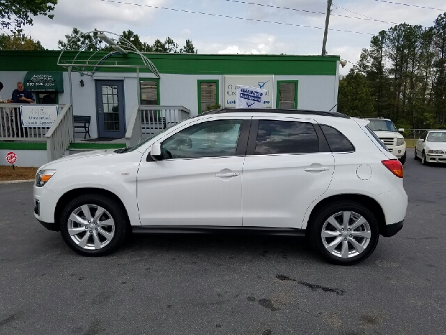 2013 MITSUBISHI OUTLANDER SPORT SE 4DR CROSSOVER white 2-stage unlocking doors abs - 4-wheel act