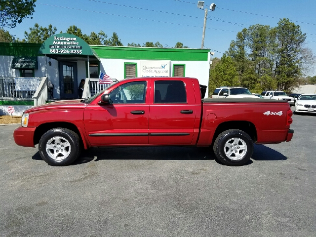 2007 DODGE DAKOTA SLT 4DR QUAD CAB 4X4 SB red 2-stage unlocking doors 4wd selector - electronic