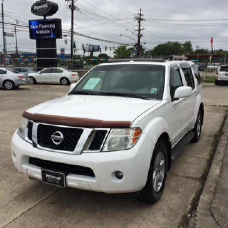 2008 NISSAN PATHFINDER SE 3RD ROW LEATHER SUN R white air conditioning power windows power lock