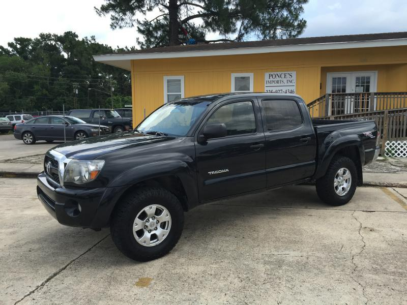 2010 TOYOTA TACOMA PRERUNNER V6 4X2 4DR DOUBLE CAB black air conditioning power windows power l
