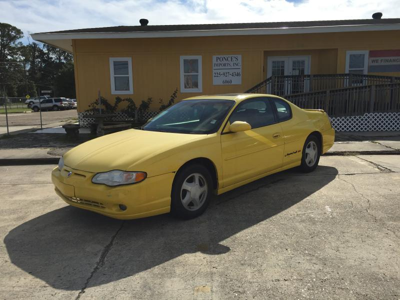 2003 CHEVROLET MONTE CARLO SS 2DR COUPE yellow air conditioning power windows power locks powe