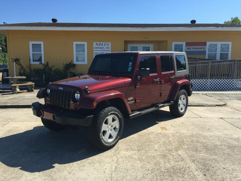 2007 JEEP WRANGLER UNLIMITED SAHARA 4DR SUV maroon air conditioning power windows power locks
