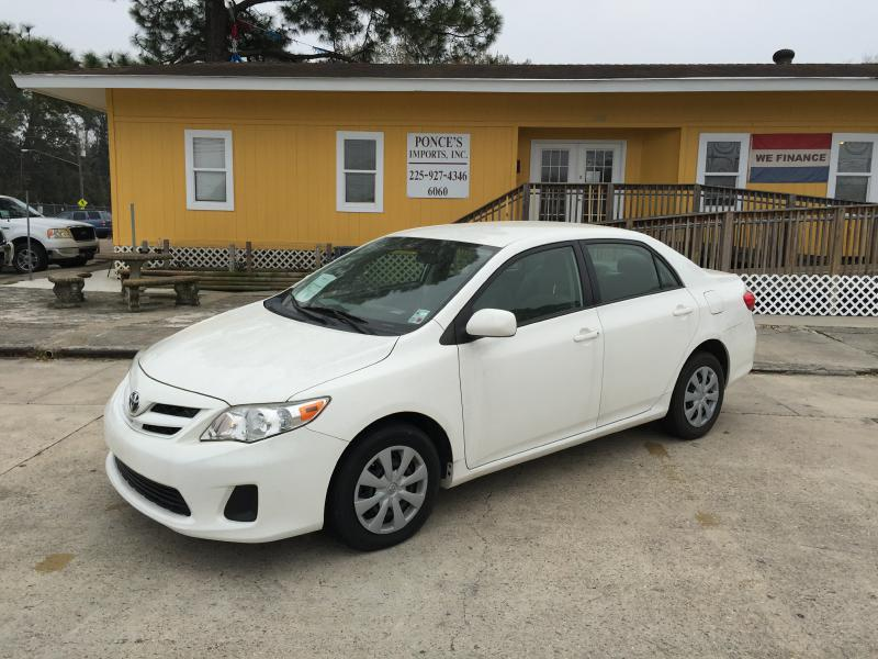 2011 TOYOTA COROLLA BASE 4DR SEDAN 4A white air conditioning standard power windowslocks opti