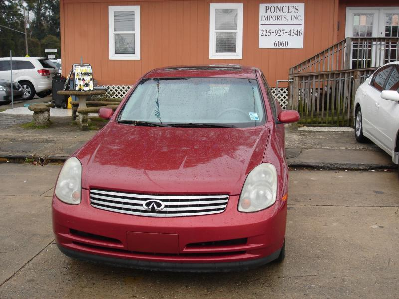 2003 INFINITI G35 BASE LUXURY 4DR SEDAN WLEATHER red air conditioning standard power windowsl