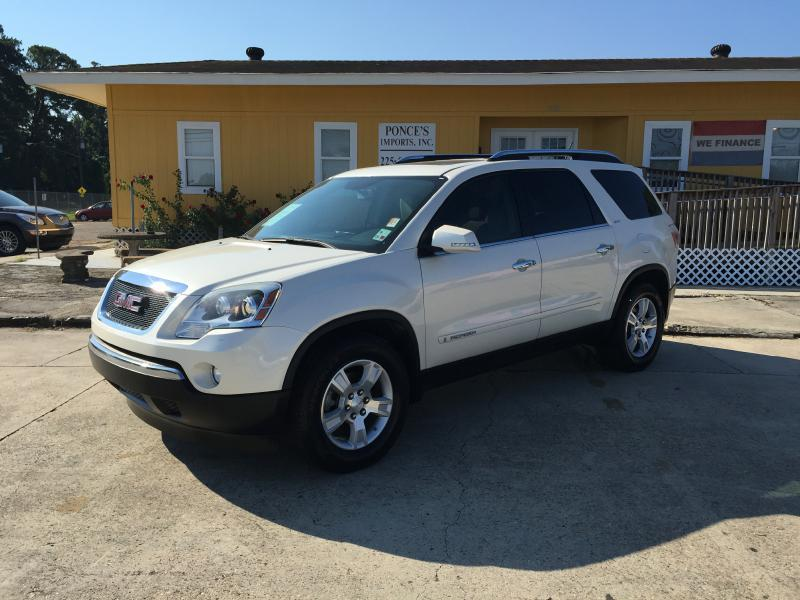 2008 GMC ACADIA SLT-2 4DR SUV white air conditioning power windows power locks power steering