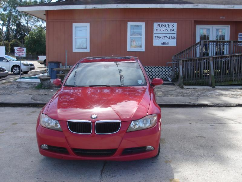 2007 BMW 3 SERIES 328I 4DR SEDAN red air conditioning standard power windowslocks standard p