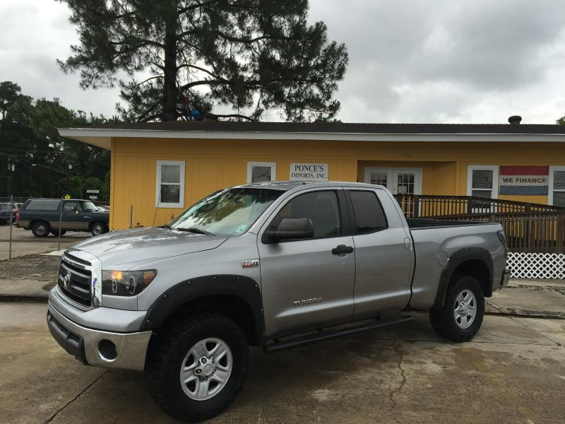 2010 TOYOTA TUNDRA GRADE 4X4 4DR DOUBLE CAB PICKUP silver air conditioning power windows power