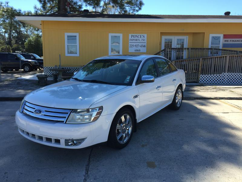 2008 FORD TAURUS LIMITED 4DR SEDAN white air conditioning power windows power locks power stee