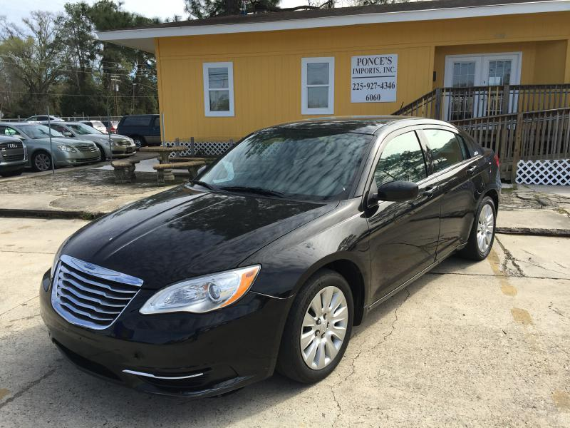 2012 CHRYSLER 200 LX 4DR SEDAN black air conditioning power windows power locks power steering