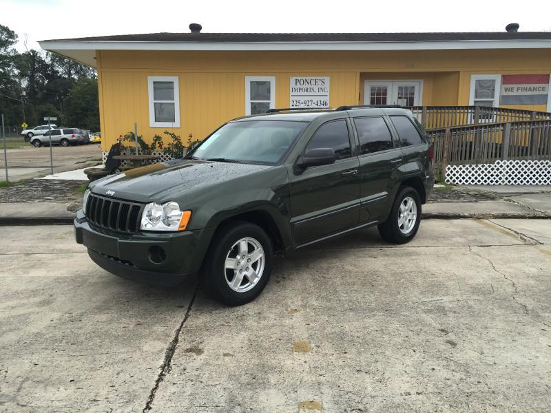 2007 JEEP GRAND CHEROKEE LAREDO 4DR SUV 4WD green air conditioning power windows power locks p