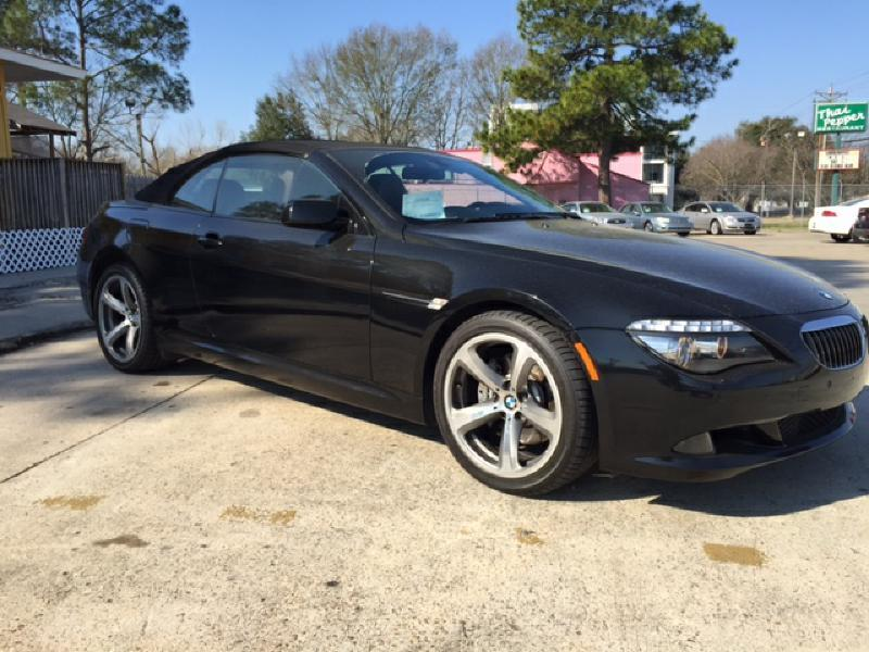 2008 BMW 6 SERIES 650I CONVERTIBLE black beautiful car perfect for the summer driver air bag p