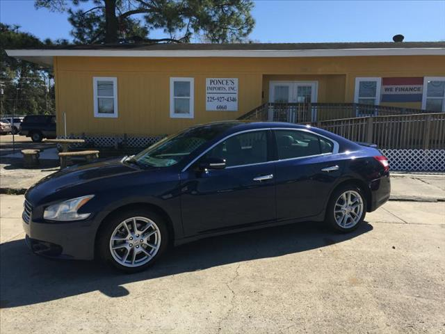 2009 NISSAN MAXIMA S blue air conditioning power windows power locks power steering tilt whee