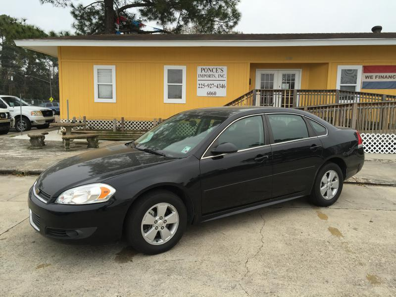 2011 CHEVROLET IMPALA LT FLEET 4DR SEDAN W2FL black air conditioning standard power windowslo