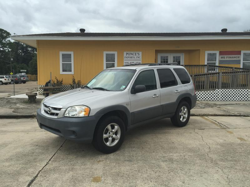 2006 MAZDA TRIBUTE I 4DR SUV WAUTOMATIC silver air conditioning power windows power locks pow