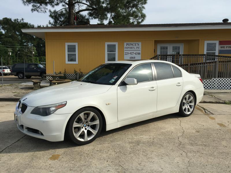 2005 BMW 5 SERIES 545I 4DR SEDAN white air conditioning power windows power locks power steeri