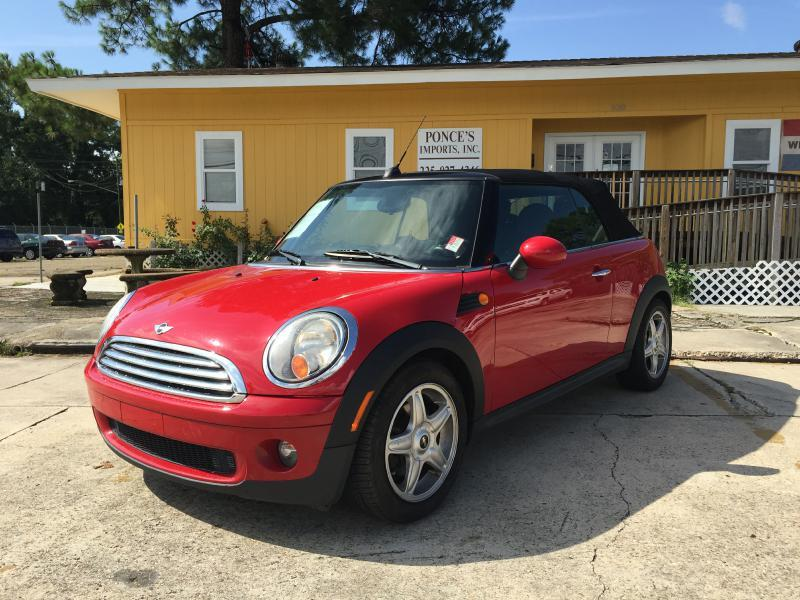 2009 MINI COOPER BASE 2DR CONVERTIBLE red air conditioning power windows power locks power ste