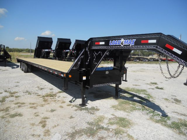 2014 Load Trail / Load Max 40' Gooseneck Trailer, 10k Dexters, Straight deck Powdercoated - TRENTON TX