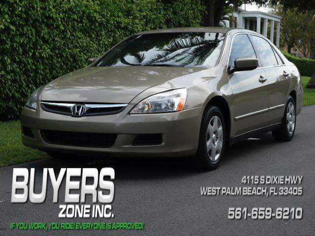 2007 HONDA ACCORD LX 4DR SEDAN gold 2-stage unlocking - remote abs - 4-wheel air filtration ai