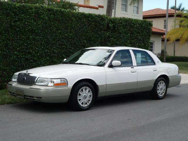 2004 MERCURY GRAND MARQUIS GS 4DR SEDAN white abs - 4-wheel clock cruise control driver seat p