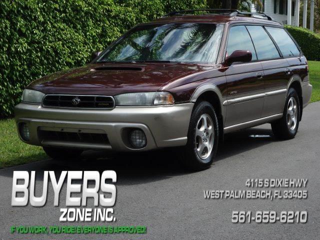 1999 SUBARU LEGACY OUTBACK AWD 4DR WAGON burgundy abs - 4-wheel cassette cruise control exteri