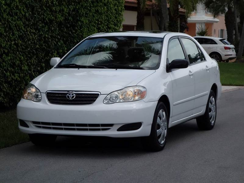 2006 TOYOTA COROLLA LE 4DR SEDAN WAUTOMATIC white air filtration antenna type anti-theft syste