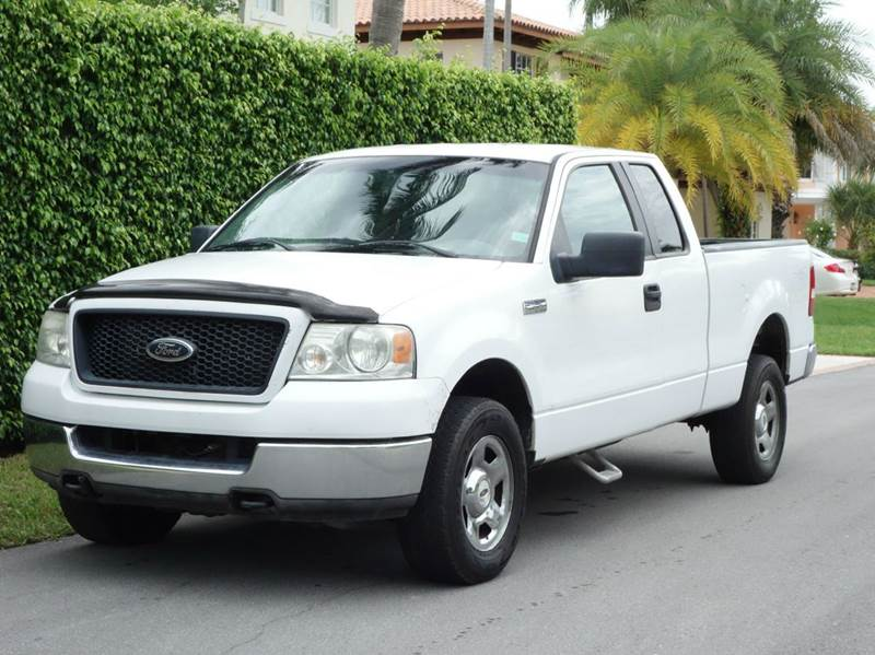 2005 FORD F-150 XLT 4DR SUPERCAB 4WD STYLESIDE 6 white abs - 4-wheel axle ratio - 355 bumper c