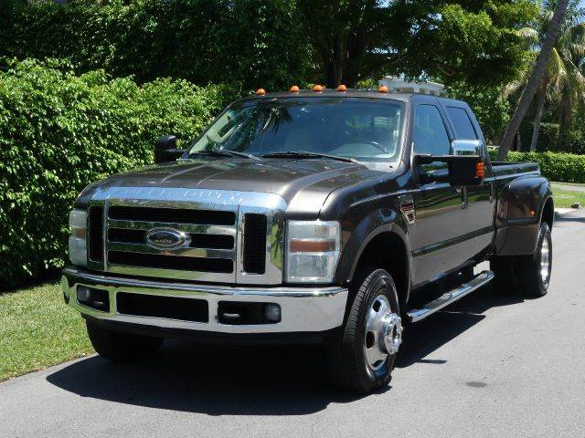 2008 FORD F-350 SUPER DUTY LARIAT 4DR CREW CAB 4WD LB DRW gray 2-stage unlocking - remote 4wd ty