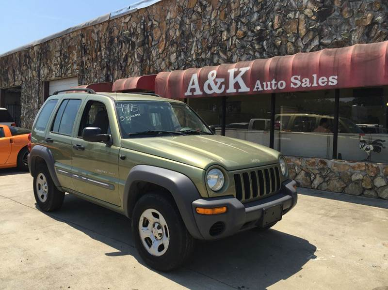 2003 jeep liberty 4dr sport 4wd suv in greenville sc a k auto sales. Black Bedroom Furniture Sets. Home Design Ideas