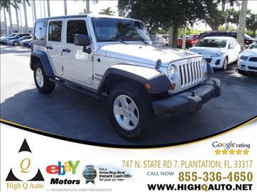 2012 Jeep Wrangler Unlimited for sale in Plantation, FL