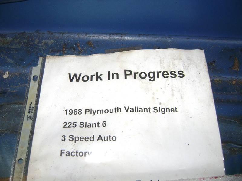 1968 Plymouth Valiant SIGNET 2/DR. - Texarkana TX