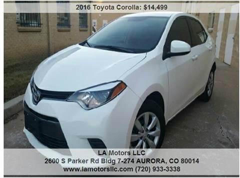 2016 Toyota Corolla for sale in Aurora, CO