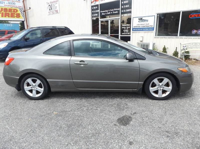 2006 honda civic ex 2dr coupe w manual in chesapeake va. Black Bedroom Furniture Sets. Home Design Ideas