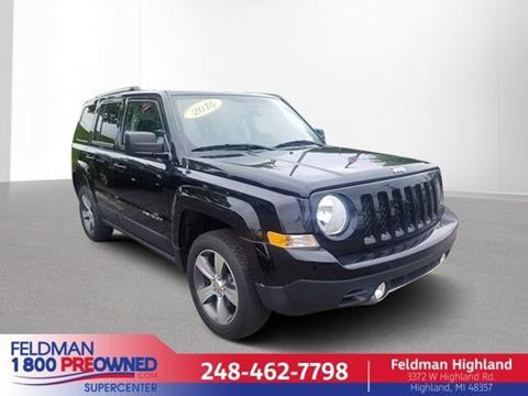 2016 Jeep Patriot for sale in Highland, MI