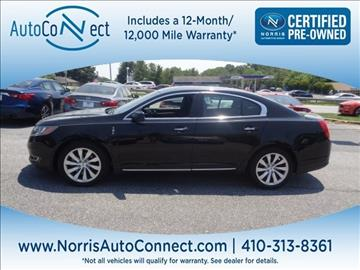 2016 Lincoln MKS for sale in Ellicott City, MD
