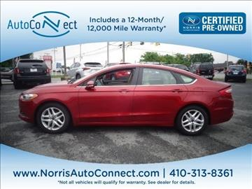 2014 Ford Fusion for sale in Ellicott City, MD
