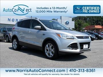 2014 Ford Escape for sale in Ellicott City, MD