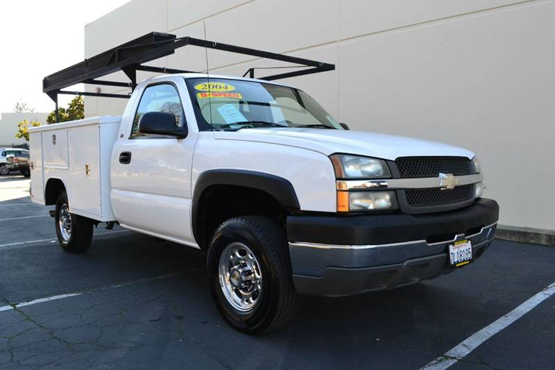 2004 chevrolet silverado 2500hd regular cab utility bed in citrus heights ca palms auto sales. Black Bedroom Furniture Sets. Home Design Ideas