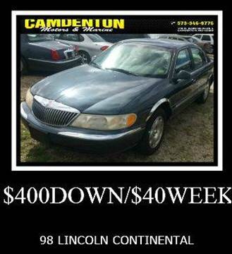 1998 Lincoln Continental for sale in Camdenton, MO