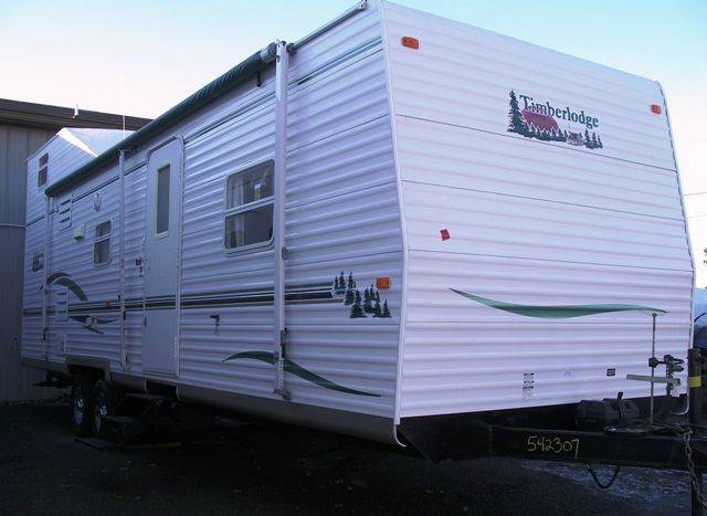 Used 2003 timberlodge sky 33 loft trailer bunkhouse for sale for Rv with loft