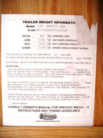 2005 Arctic Fox 4 season 29V double slideout  - Springville NY