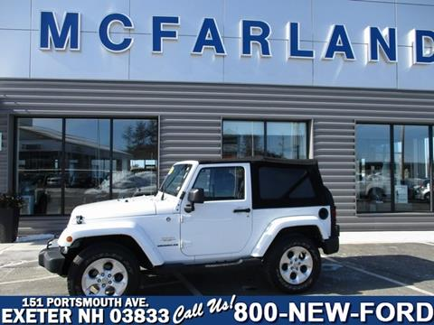 2013 Jeep Wrangler for sale in Exeter, NH