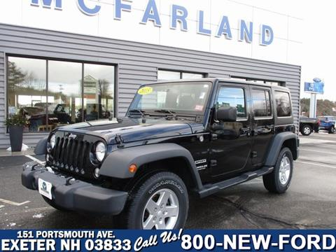 2015 Jeep Wrangler Unlimited for sale in Exeter, NH