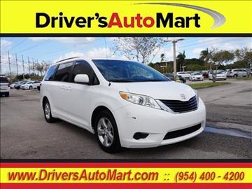 2011 Toyota Sienna for sale in Davie, FL